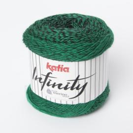 Katia Infinity - 107 Zwart-Lichtgroen