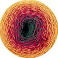 Katia Rainbow Socks - 55 - Geel-Oranje-Rood-Groen