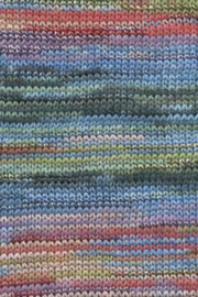 LANG Yarns Fiora - 0079 Turquoise-Smaragd-Paars-Rood