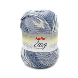 Katia Easy Jacquard - 311 Grijs - Blauw
