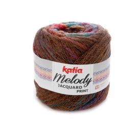 Katia Melody Jacquard Print - 500 Bruin-Oranje-Groen-Lila