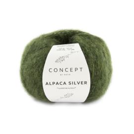 Katia Concept - Alpaca Silver - 272 Donkergroen - Zilver