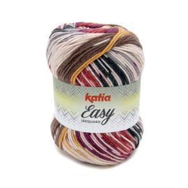 Katia Easy Jacquard - 355 Grijs - Rood