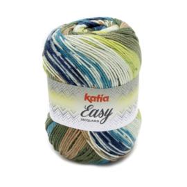 Katia Easy Jacquard - 353 Groen - Bruin