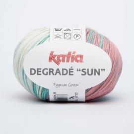 Katia Degrade Sun - 96 Ecru-Geelgroen-Blauw-Bleekrood-Waterblauw