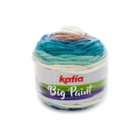 Katia Big Paint - 200 Blauw - Beige