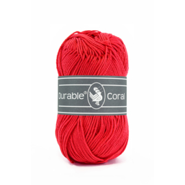 Durable Coral Katoen - 316 Red