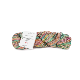 Katia Concept - Cotton-Merino Craft - 200 Groen-Geel-Fuchsia
