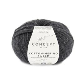 Katia Concept - Cotton-Merino Tweed 503 Donker Grijs