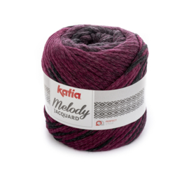 Katia Melody Jaquard - 257 Parelmoer - Lichtviolet - Zwart