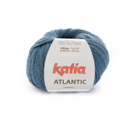 Katia Atlantic - 206 Medium blauw - Zwart