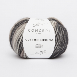 Katia Concept - Cotton-Merino PLUS 207 - Donker grijs-Medium grijs