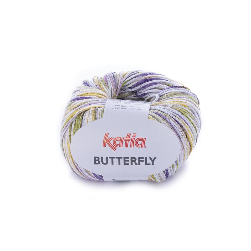 Katia Butterfly - 86 Lila - Pistache - Geel