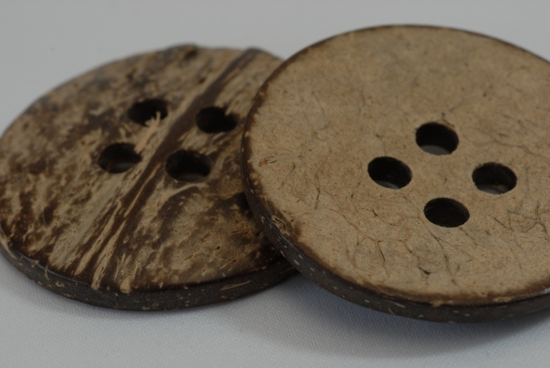 Kokos knoop 4 gaats 4,5 cm - 5641-70