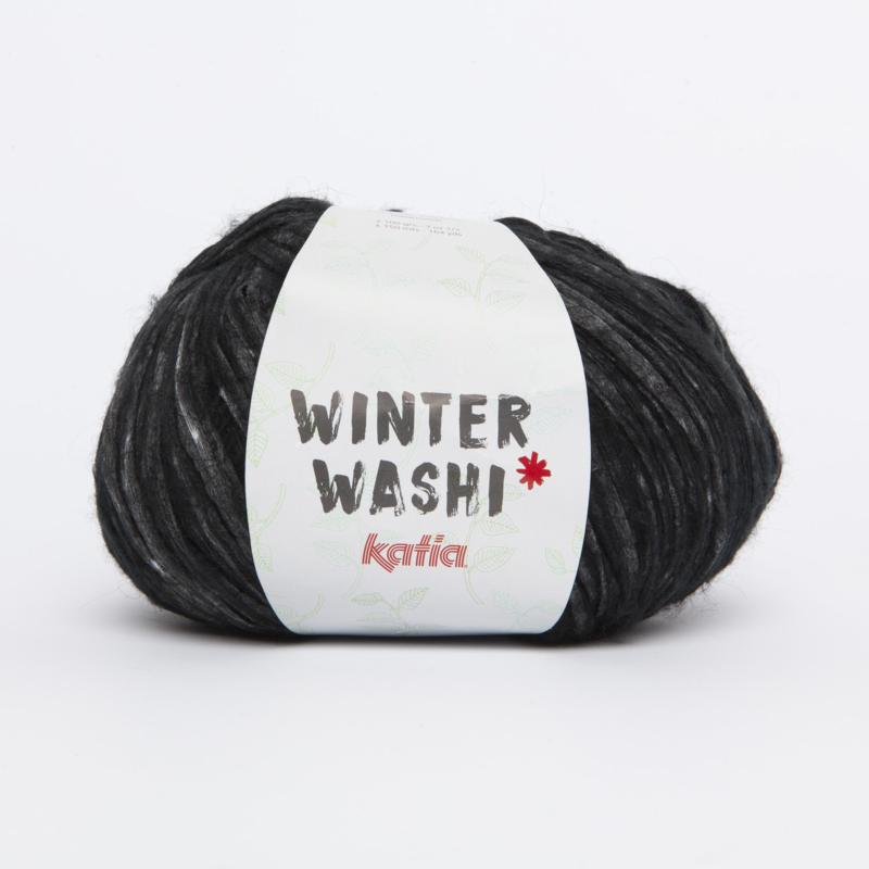Katia Winter Washi - 212 Leigrijs-Zwart