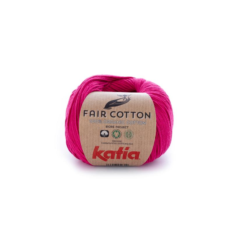 Katia Fair Cotton - 32 Framboosrood