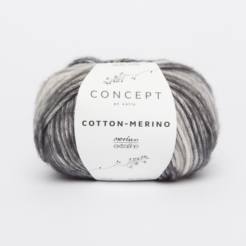 Katia Concept - Cotton-Merino PLUS 206 Grijs