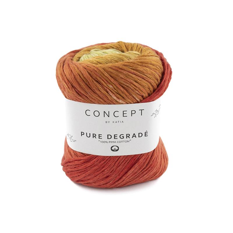 Katia Concept - Pure Degrade - 204 Roodoranje - Oranje - Pistache