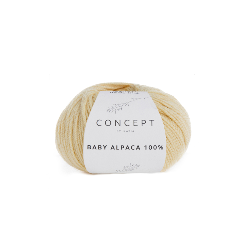 Katia Concept - Baby Alpaca 100% - 518 Licht Geel