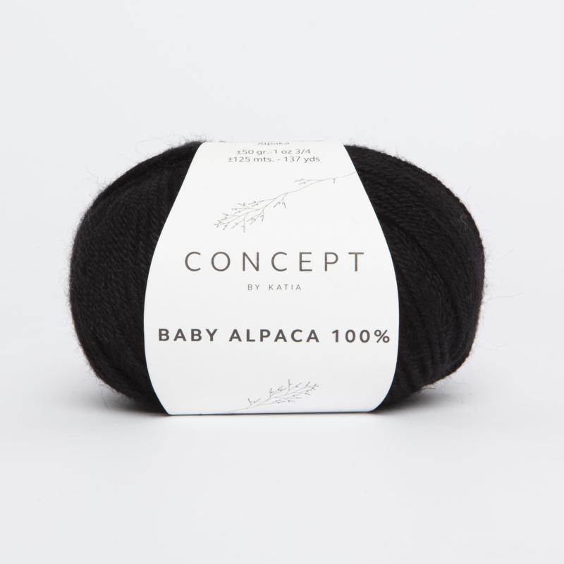 Katia Concept - Baby Alpaca 100% - 505 Zwart