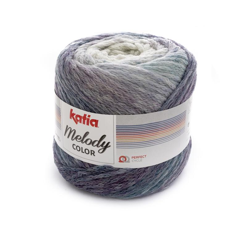 Katia Melody Color - 302 Parelmoer - Lichtgrijs - Lila