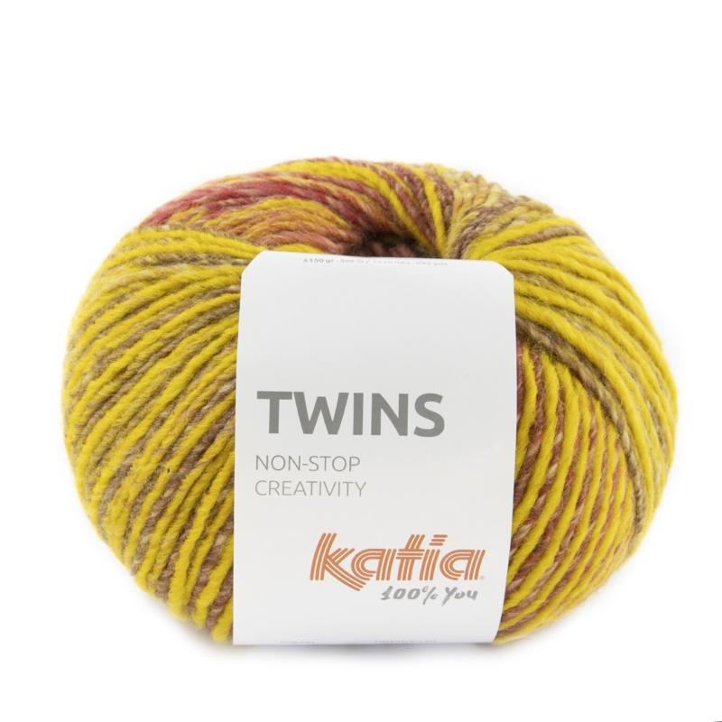 Katia Twins - 159 Mosterdgeel - Leembruin