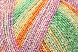 Katia Jaipur Socks - 51 Geel-Fuchsia-Oranje-Groen