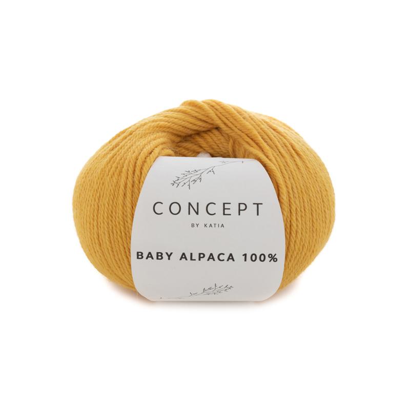 Katia Concept - Baby Alpaca 100% - 521 Oker Geel