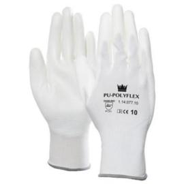 M-Safe 11407711 PU-Polyflex Werkhandschoen Wit Maat 11