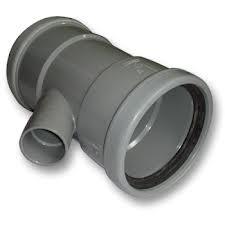 PVC T-stuk 45° Ø110-40 Manchet 1XLM 2XMM 53026