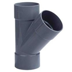 PVC Lijm T-stuk Ø125x125 mm 3XM 45° 53016
