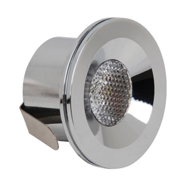 Miranda 3W LED Inbouw Rond Chroom 4200K 0160040003
