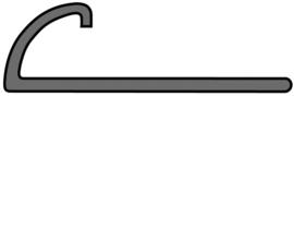 MP Rond PVC Wit 6 x 2700mm 8900 Tegelprofiel