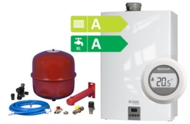Remeha Avanta Plus HR Combi CW4 28C (A-label) + Honeywell Round On/Off T87G2014-E + Bonfix Ketelaansluitset