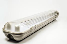 LED TL Armatuur Dubbel Spatwaterdicht 150 cm. IP65/T8/2x23W/230V OT6655