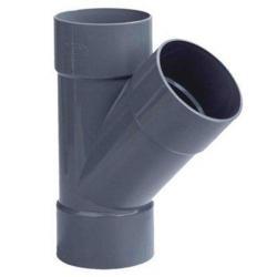 PVC Lijm T-stuk Ø75x75 mm 3XM 45° 52998