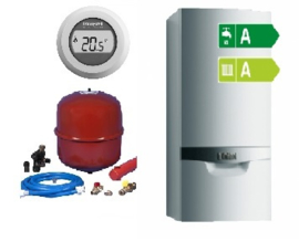Vaillant ecoTEC Plus VHR 20-24 CW3 (A-label) + Ketelaansluitset + Honeywell Round On/Off T87G2014-E
