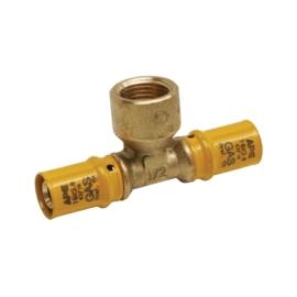APE Gas T-stuk 16x1/2x16 Bi. Pers