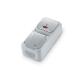 Combinatie Wissel met controlelamp / WCD+RA 90555792 Vert. Palmiye Grijs