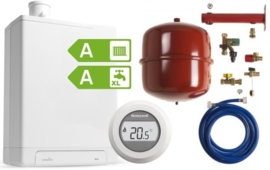 Intergas HRE24/18A CW3 Kombi Kompakt RF2 (A-label) + Honeywell Round On/Off T87G1006 + Ketelaansluitset