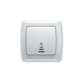 Schakelaar Lamp Impulsdrukker met controlelamp 90561014 Carmen Wit