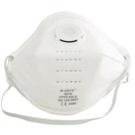 M-Safe 4210 stofmasker FFP2 NR D met uitademventiel  (tijdelijk niet beschikbaar)