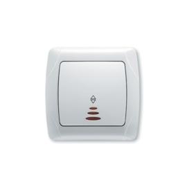 Wisselschakelaar met controlelamp 90561063 Carmen Wit