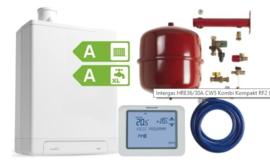 Intergas HRE36/48A CW5 Kombi Kompakt RF2 (A-label) + Honeywell Chronoterm Touch TH8200G1004 + Ketelaansluitset