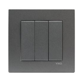 Serieschakelaar 3-line 93000468 Novella Fume