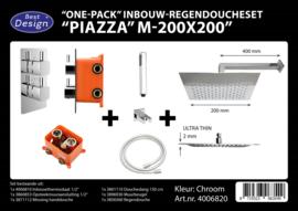 BD Piazza M200x200 One-Pack Inbouw Regendoucheset 4006820