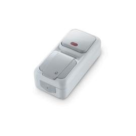 Combinatie Schakelaar controlelamp / WCD RA 90555794 Vert. Palmiye Grijs