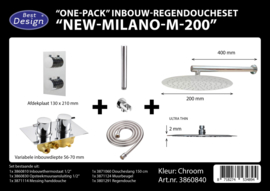 BD New Milano M200 One-Pack Inbouw Regendoucheset 3860840