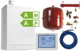 Intergas HRE 24/18 A CW3 Kombi Kompakt RF2 (A-label) + Honeywell Chronoterm Touch TH8200G1004 + Ketelaansluitset