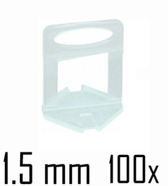 Titan Prof Tile Level Voetstuk 1.5mm (100x)